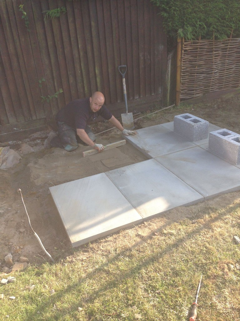 Oil Tank Installations - Laying the base